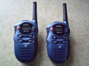 Picture of the two walkie-talkies we used on this trip.