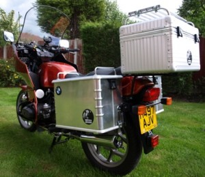 Picture of Bertha. Rear view showing the new panniers.