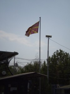 Picture of queue at Macedonian Border.