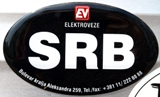 picture showing the Serbian SRB sticker.