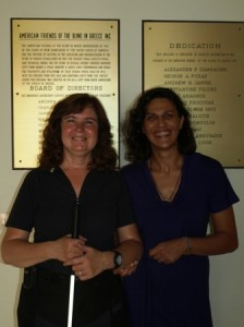 Picture of Zoe and Cathy taken in the foyer.