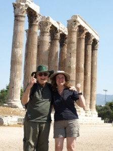 Picture of Jim and Cathy by what's left of the Temple of Zeus.