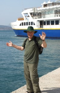 Picture of Jim taken on the dock side of Piraeus.