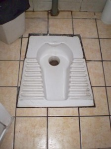 Picture of a 'traditional' toilet. This was one of the better ones!