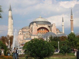 picture of the blue mosque.