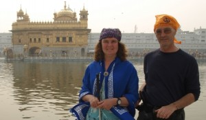 Rare picture of Bernard and Cathy actually together at the Golden Temple.