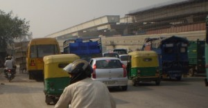 Picture of the traffic as we reach outskirts of Delhi.