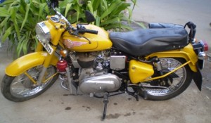 Picture of a Royal Enfield.