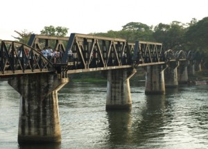 Picture of the bridge over the River Kwai.