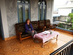 Picture of 'our' balcony in our new home at the Greenland Guest House.