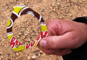 Picture of the 'coco-pops' Gasket in Bernard's hand.