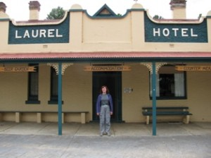 Picture of the outside of the Laurel Hotel where the staff were fantastic.