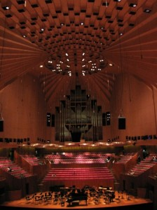 Picture of the inside of the famous Opera House.