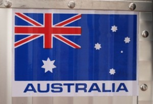 Picture of the Australian flag sticker on Berth'a back box