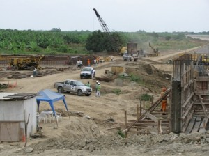 Picture of the, soon to be, new border crossing with Ecuador - but we didn't know it!