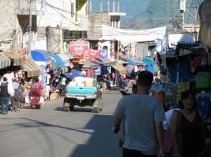 Picture of the main street in La Mesilla