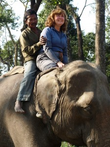 Nepal - Chitwan National Park riding elephants on Christmas day 2009